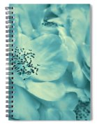 Whispers Of Teal Roses Spiral Notebook