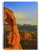 Whispy Clouds Over Delicate Arch Spiral Notebook
