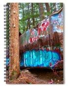 Whistler Train Wreck Box Car Graffiti Spiral Notebook