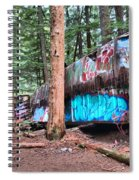 Whistler Train Wreckage Among The Trees Spiral Notebook