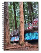 Whistler Train Wreckage In The Trees Spiral Notebook
