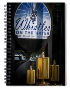 Whistles On The Water Spiral Notebook