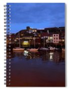 Whitby Lower Harbour At Night Spiral Notebook