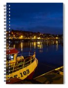 Whitby Upper Harbour At Night Spiral Notebook