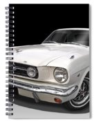 White 1966 Mustang Spiral Notebook
