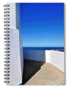 White And Blue To Ocean View Spiral Notebook