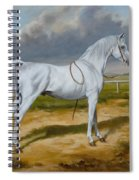White Arabian Stallion Spiral Notebook