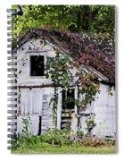 White Barn In Autumn Spiral Notebook