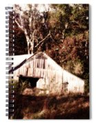 White Barn In Autumn Spiral Notebook