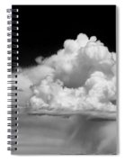 White Billowing Cloud Formation In Montana Spiral Notebook
