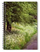 White Bloom Along The Dutch Canal. Netherlands Spiral Notebook