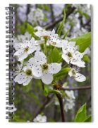 White Blooms Spiral Notebook