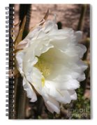 White Cactus Bloom Spiral Notebook