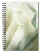 White Calla Moods Spiral Notebook