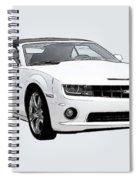 White Camaro Spiral Notebook