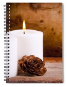 White Candles With Rose Spiral Notebook
