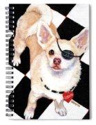 White Chihuahua - Pistachio Spiral Notebook