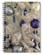 White Christmas Tree Spiral Notebook