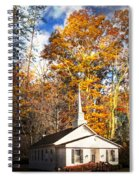White Church In Autumn Spiral Notebook