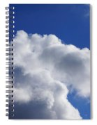 White Clouds Art Prints Blue Sky Spiral Notebook