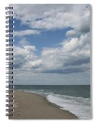 White Clouds Over The Ocean Spiral Notebook