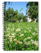 White Clover Field And The Playground Spiral Notebook