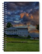 White Columns Under Evening Skies Spiral Notebook