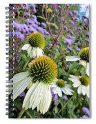 White Coneflowers Spiral Notebook