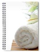 White Cotton Towel Spiral Notebook