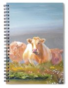 White Cows Painting Spiral Notebook