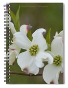 White Cross Flowers Spiral Notebook
