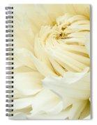 White Dahlia Spiral Notebook