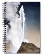 White Dome Geyser Yellowstone Np Spiral Notebook