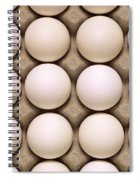 White Eggs In Carton Spiral Notebook
