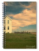 White Farmhouse And Corral Spiral Notebook