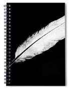 White Feather Spiral Notebook