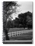 White Fence On The Wooded Green Spiral Notebook