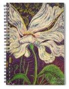 White Flower Series 6 Spiral Notebook