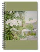 White Flowers Aruba Spiral Notebook