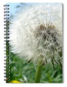 White Fluffy Spiral Notebook