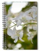 White Gems Spiral Notebook