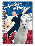 White German Shepherd Art Canvas Print - An American In Paris Movie Poster Spiral Notebook