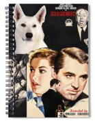 White German Shepherd Art Canvas Print - Suspicion Movie Poster Spiral Notebook