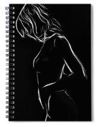 White Girl In Black Night Spiral Notebook