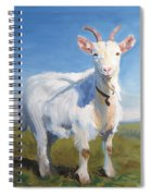 White Goat Spiral Notebook
