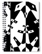 White Gravity Spiral Notebook