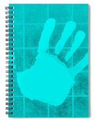 White Hand Aquamarine Spiral Notebook