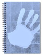 White Hand Cyan Spiral Notebook