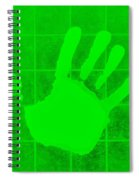 White Hand Green Spiral Notebook