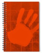 White Hand Orange Spiral Notebook
